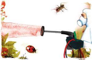 ضدآفت های شیمیایی معمولا برای کنترل بیماری ها، آفات و علف های هرز به کار میروند. پایه ی این مواد، عناصر سمی برای آفت های مدنظر هستند که در اینجا مساله عدم آسیب رسانی به گیاه یا محصولی که در حال محافظت از آن هستیم توسط مواد ضدآفت شیمیایی مطرح میشود. ضدآفت های شیمیایی کنترل آفات و بیماری ها- ضدآفت های شیمیایی articles biological vs chemical text 1 300x197