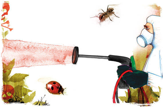 ضدآفت های شیمیایی معمولا برای کنترل بیماری ها، آفات و علف های هرز به کار میروند. پایه ی این مواد، عناصر سمی برای آفت های مدنظر هستند که در اینجا مساله عدم آسیب رسانی به گیاه یا محصولی که در حال محافظت از آن هستیم توسط مواد ضدآفت شیمیایی مطرح میشود. ضدآفت های شیمیایی کنترل آفات و بیماری ها- ضدآفت های شیمیایی articles biological vs chemical text 1